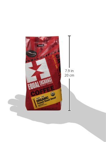 Equal Exchange Organic Ground, French Roast Decaf, 10-Ounce Bag 2 Contains 1 bag, 10 oz per bag (10 oz) Bold Dark Decaf French Roast Coffee Grounds Balanced with Creamy Malted Chocolate & a Bittrsweet Finish French Roast Blend