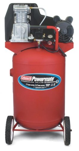Coleman Powermate Premium Plus Series, Oil Lubricated Belt Drive, 27 gallon Air Compressor - Hot Dog Tank Air Compressors - Amazon.com
