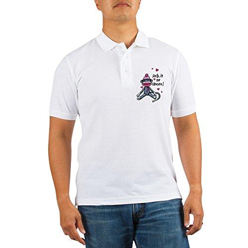 Royal Lion Golf Shirt Sock It to Cancer Pink Ribbon - XL