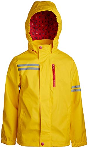 Urban Republic Boys Lightweight Waterproof Hooded Vinyl Raincoat Jacket, Yellow, Size - Vinyl Boy