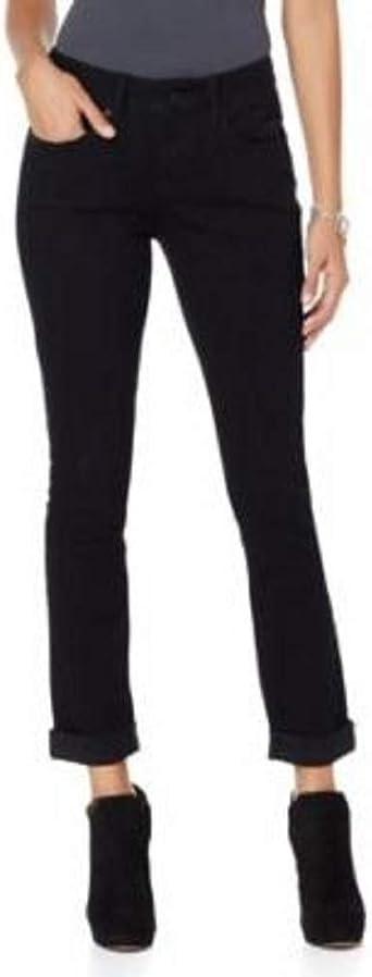 Amazon Com G By Giuliana 443502 Pantalones Vaqueros Para Mujer Talla 0 Color Negro Clothing