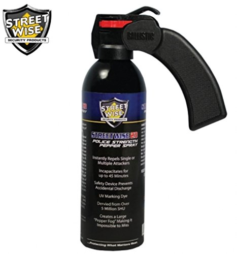 (Streetwise Security Products Lab Certified Streetwise 18 Pepper Spray, 16-Ounce, Pistol Grip)