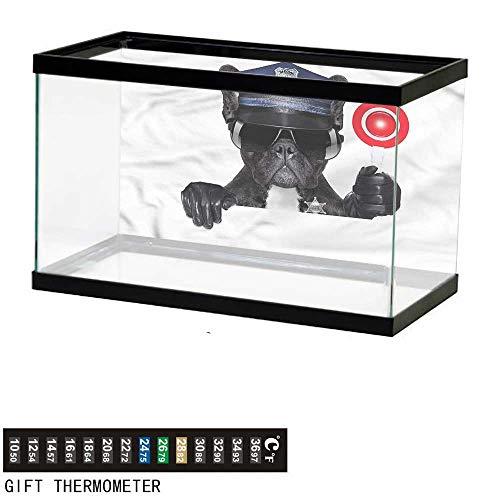 Suchashome Fish Tank Backdrop Police,Pug Dog Police Costume,Aquarium Background,60