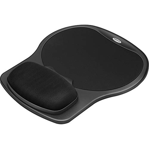Fellowes® Easy Glide Gel Wrist Rest with Mouse Pad PAD,MOUSE&GEL WRSTREST,BK FEL6110101 (Pack of 3)