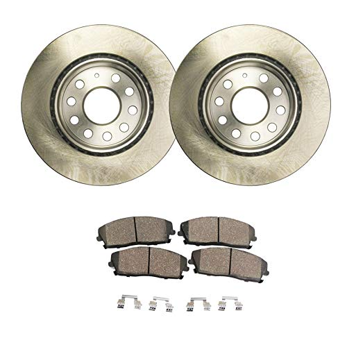 - Detroit Axle - Pair (2) 280mm Front Disc Brake Rotors w/Ceramic Pads w/Hardware for 2011 2012 2013 VW Volkswagen Jetta