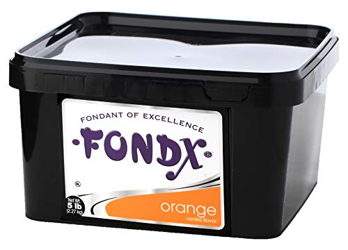 (FONDX Rolled Fondant 5 lb - Vanilla Flavor, Orange)