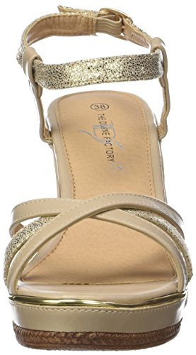 The Divine Factory Alissia, Sandalias Para Mujer Beige
