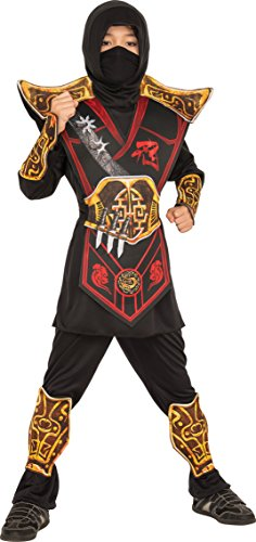 Rubie's Costume 630950-S Child's Battle Ninja Costume, Small, Multicolor (Pack of 8) ()