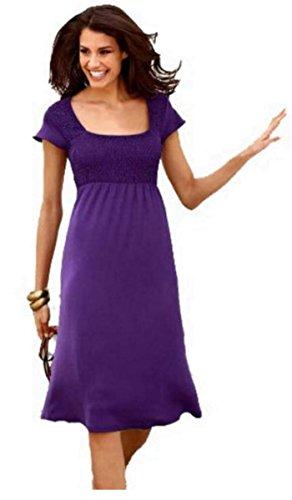 Aniston Damen-Kleid Kleid Violett Größe 34