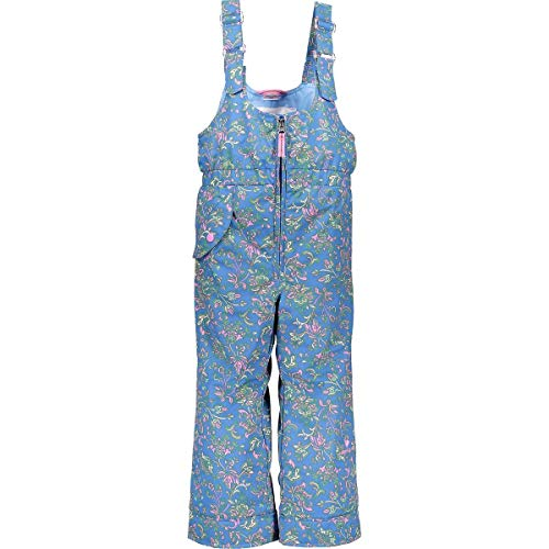 Obermeyer Kids Baby Girl's Snoverall Print Pants (Toddler/Little Kids/Big Kids) Honeysuckle Blue 7 ()