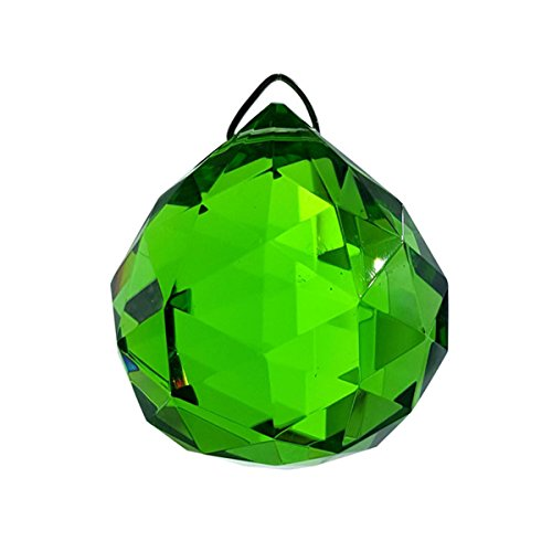 #840, Crystal Hanging 40 mm Green Ball by Crystal Florida by Crystal -