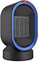 Comlife Oscillating Ceramic Heater, 600W Portable Electric Fan Heater, Personal Space Heater with Hot & Natural Wind, Over-Heat & Tip-Over Protection for Home and Office Use
