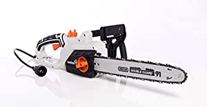 Ivation 16 Inch 15.0 Amp Electric Chainsaw With Auto oiling, Automatic tension & Chain Break, Includes Oil Bottle