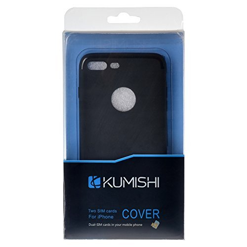 Dual Sim adapter kit two sim cards case/cover for iphone 7 -black color by BRIDGOR (Image #2)