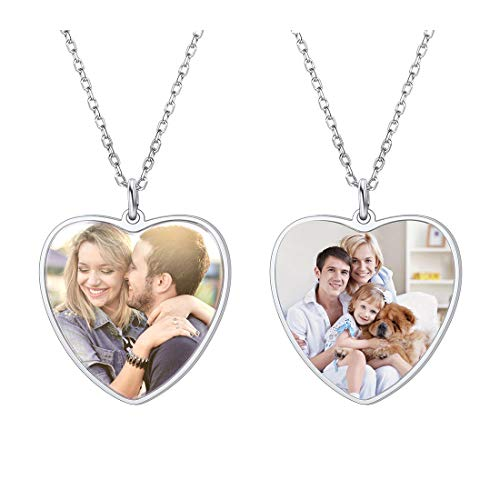 Custom Full Color Photo Necklace with 925 Sterling Silver Chain 18