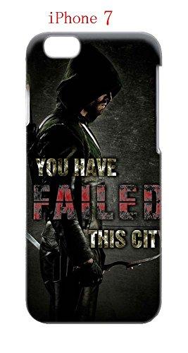 iPhone 7 Case, The TV Series Arrow 35 Drop Protection Never Fade Anti Slip Scratchproof 3D Hard Plastic (Green Arrow Cw Costume)
