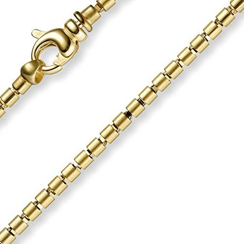 3mm Bracelet Bracelet Chaîne Imagination Cylindre, or jaune 585, 21cm