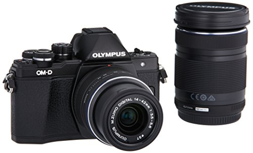 Olympus OM-D E-M10 Mark II Mirrorless Micro 4/3 Camera with 14-42mm and 40-150mm Lenses (Black) (Best Budget Full Frame Mirrorless Camera)