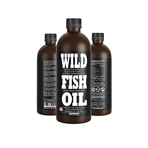 Wild Fish Oil, Delicious Lemon Omega-3 DPA/EPA/DHA Oil - 16 oz - (Distilled Omega 3 Fish Oil)