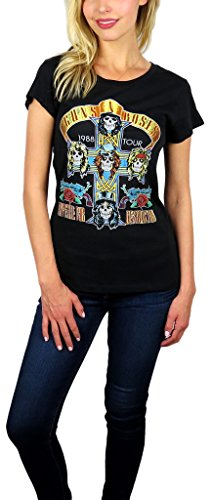 Guns N' Roses Womens Distressed Logo Graphic Tee (X-large, Appetite -