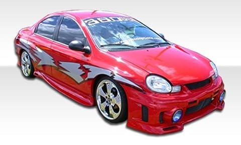 2000-2002 Dodge Neon Duraflex Evo 3 Body Kit - 4 Piece - Includes Evo 3 Front Bumper Cover (100022) Vader Rear Bumper Cover (100027) Kombat Side Skirts Rocker Panels - Aero Kit Side Skirts