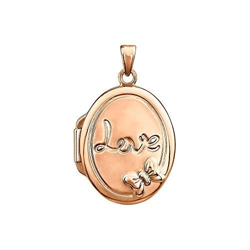 STU001- 14K Rose Gold-Plated Sterling Silver Oval Locket by STU001-