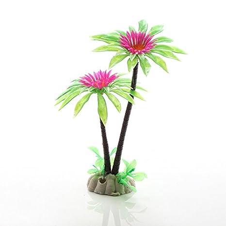 Ngnrjgs - Figura Decorativa de césped de Agua para Acuario, Coco, crisantemo, acuático, pecera: Amazon.es: Productos para mascotas