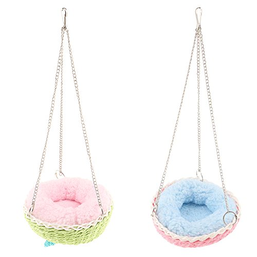Homyl Pet Nest Bed Small Animals Cage Hammock Hanging Bed Nesters Random Color from Homyl