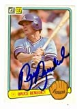 Autograph Warehouse 75450 Bruce Benedict Autographed Baseball Card Atlanta Braves 1983 Donruss No .299