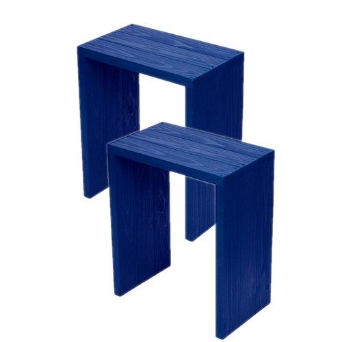 (2台セット)  ウッドステージ ワイド  (長さ45cm x 奥行き27cm x 高さ54cm, GBガーデンブルー) B079Z8H77M 長さ45cm x 奥行き27cm x 高さ54cm|GBガーデンブルー GBガーデンブルー 長さ45cm x 奥行き27cm x 高さ54cm