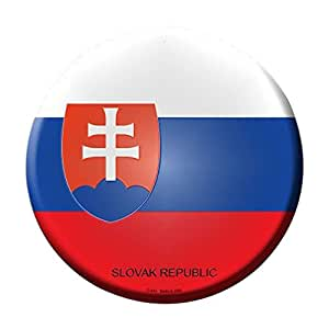 Smart Blonde Slovak Republic Country Novelty Metal Circular Sign C-414