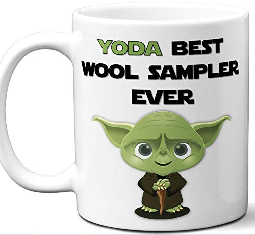 (Funny Gift For Wool Sampler. Yoda Best Employee Ever. Cute, Star Wars Themed Unique Coffee Mug, Tea Cup Idea for Men, Women, Birthday, Christmas, Coworker.)
