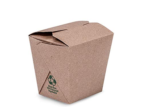 Take Out Box Containers - 8oz Earth Recycled Kraft Microwave Safe Mini Pk 2-3/4x2-1/2x2-3/4 (4 Packs; 50 Boxes Per Pack) - WRAPS-EA8WPEM by Miller Supply Inc