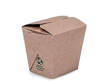 Take Out Box contenedores - 8oz Kraft reciclado tierra microondas ...