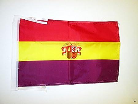 AZ FLAG Bandera ESPAÑA Republicana con Escudo 45x30cm - BANDERINA ...