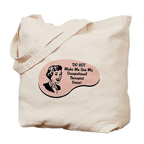 CafePress–Occupational terapeuta voz–Gamuza de bolsa de lona bolsa, bolsa de la compra Small caqui