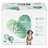 Pampers Pure Pañales, Unisex etapa 5, 66 piezas
