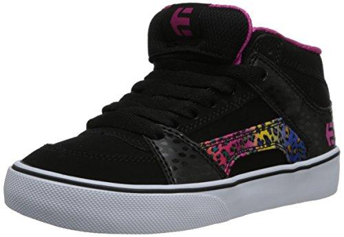 Etnies Kids RVM Vulcanized Lace-Up Sneaker (Toddler/Little Kid/Big Kid),Black/Pink/White,13 C US Little Kid