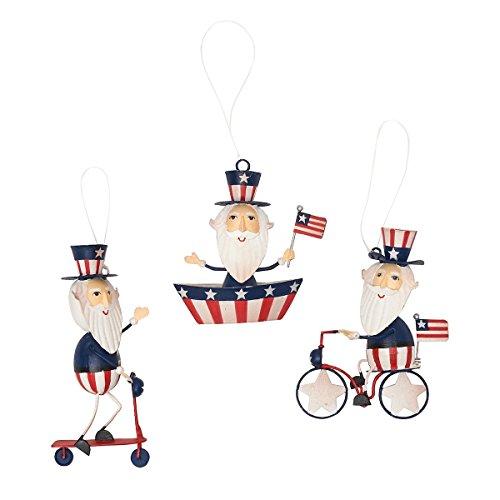 GALLERIE II Patriotic American Uncle Sam Christmas Xmas