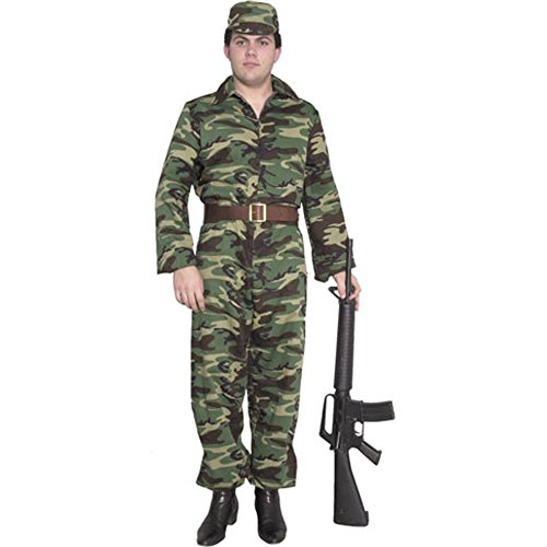 [GI Camouflage Jumpsuit Teen Costume - Large] (Military Costumes For Teens)