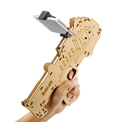 AR Game Gun for Kids & Adults, BEST Augmented Reality Game Controller for Cell Phone, Made of Aosong Board, Bluetooth Compatible with IOS and Android Smart Phones - includes AR Game App by DaLanZom