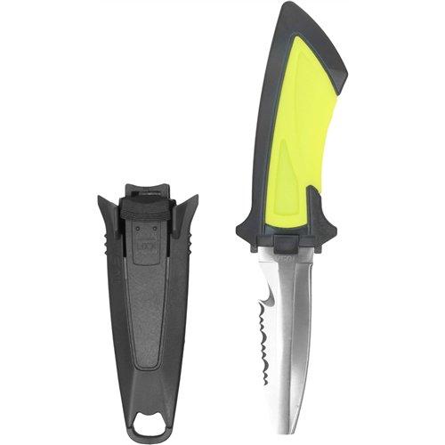 Blunt Tip Diving Knife - TUSA FK-11 Mini Dive Knife, Blunt Tip, Flash Yellow