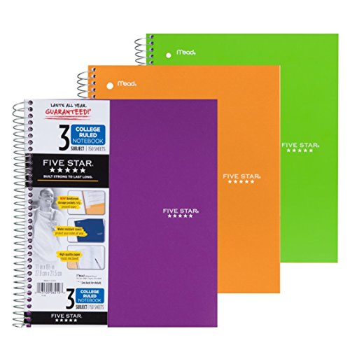 3 Ring Spiral Notebook