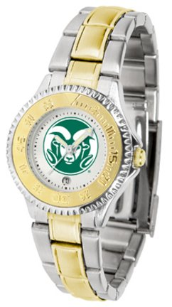 Colorado State Rams Competitor Ladies Watch with Two-Tone Band by SunTime