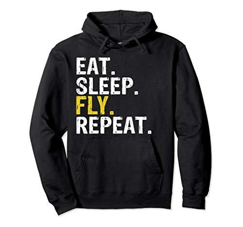 Eat Sleep Fly Repeat Aviation Pilot Gift Hoodie