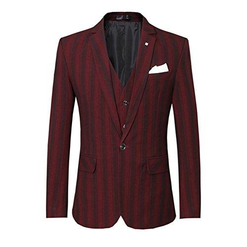 Veste Allthemen Gilet Rouge Pantalon Costard Costume Mariage Homme Pcs 3 AAx6PqwfB