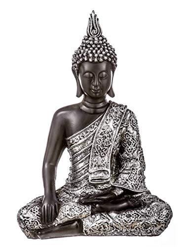 EURASIA® Figura Decorativa de Buda – Budas Decorativos en Resina – Decoración de Hogar (A) 35cm