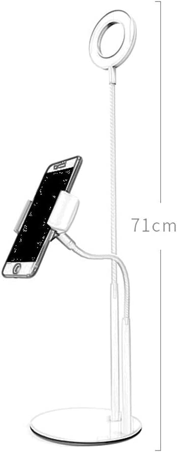 Color : Black, Size : Dual Phone Clip Style Fill light ZHAOSHUNLI Double Device Microphone Mobile Live Stand Multi-Function Beauty Desktop