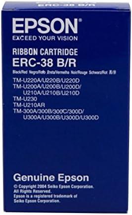vhbw 10x Farbband Nylonband Tintenband f/ür Nadeldrucker Epson TM-300 TM-U210A TM-300C TM-300A ERC-30 TM-U210B wie ERC-38 B//R ERC-34 TM-300B