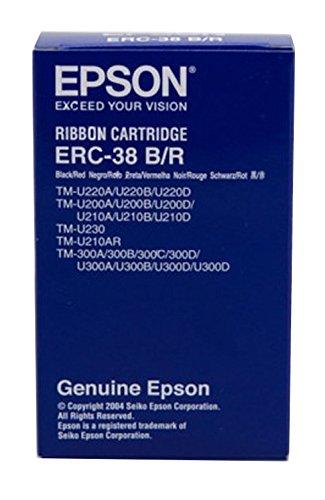Epson ERC38BR - Cinta para impresora matricial, color Rojo/Negro ...